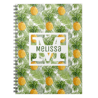 Carnet Les palmettes et les ananas tropicaux   ajoutent
