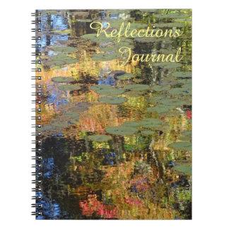 Carnet Les réflexions inscrivent (avec des lilypads)