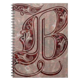 Carnet Lettre B