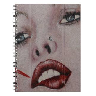 Carnet lèvres _Red