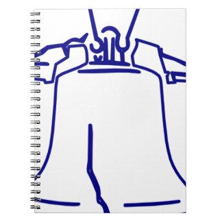 Carnet Liberty Bell bleu
