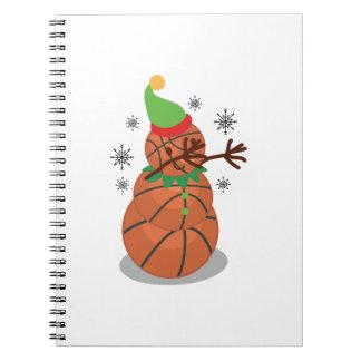 Carnet Limande drôle tamponnante de Noël de basket-ball