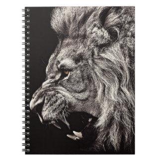 Carnet Lion masculin fâché