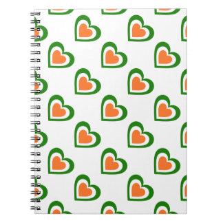 Carnet L'Irlande/Personnalised drapeau-inspiré irlandais
