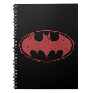 Carnet Logo de suintement de batte rouge de Batman |