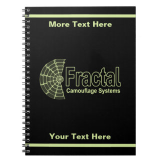 Carnet Logo de systèmes de camouflage de fractale