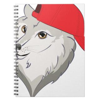 Carnet Loup dans la casquette de baseball