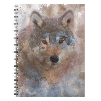 Carnet Loup dans l'aquarelle