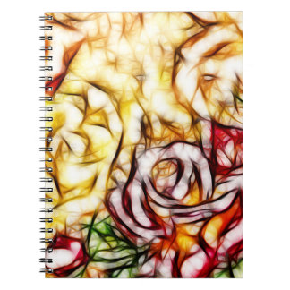 Carnet Lueur florale artistique de rose abstrait de