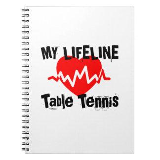 Carnet Ma ligne de vie ping-pong folâtre des conceptions