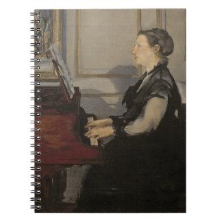 Carnet Madame Manet au piano, 1868 de Manet |