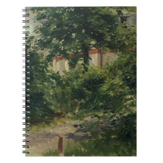 Carnet Manet | un coin du jardin en Rueil, 1882