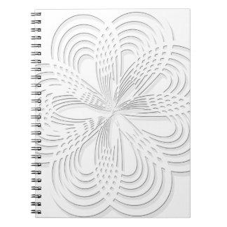 Carnet marque ronde de conception de cercle de rosette
