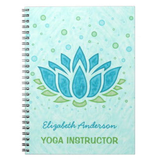 Carnet Méditation de zen de fleur de l'instructeur |