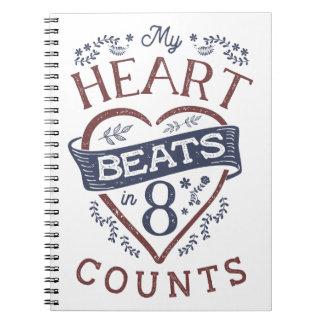 Carnet Mes battements de coeur dans la danse de 8 comptes