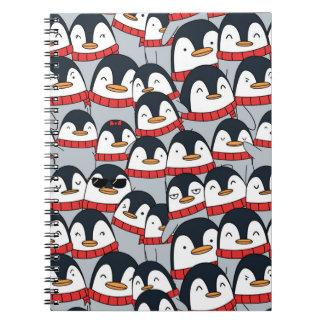 Carnet mignon de pingouins de Joyeux Noël