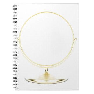 Carnet Miroir de maquillage d'or