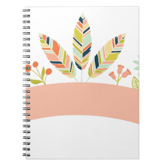 Carnet Miscellaneous - Abstract Colored Feathers Eleven