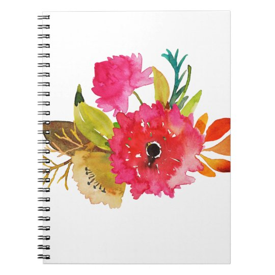 Carnet Miscellaneous - Watercolor Flowers Eleven