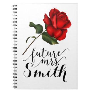 Carnet Mme florale fascinante élégante élégante de rose