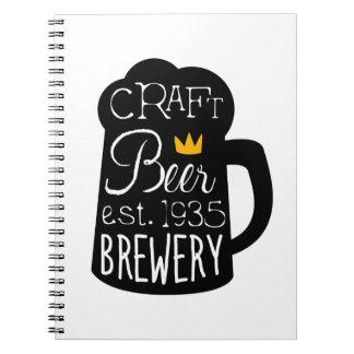 Carnet Modèle de conception de logo de bière de métier