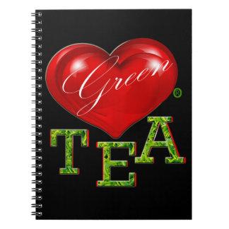 Carnet moderne décoratif de nourriture de thé vert