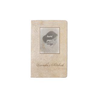 Carnet Moleskine De Poche Conception vintage avec votre photo. Ajoutez votre