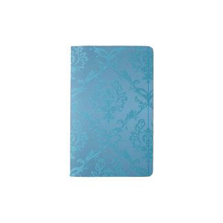 Carnet Moleskine De Poche Damassé fascinante moderne vintage de turquoise