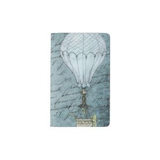 Carnet Moleskine De Poche Écriture chaude bleue de Steampunk de ballon à air