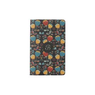 Carnet Moleskine De Poche Ethno vintage fleurit en rouge, bleu, jaune, noir