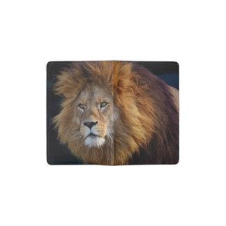 Carnet Moleskine De Poche Lion prédateur sauvage avec la crinière