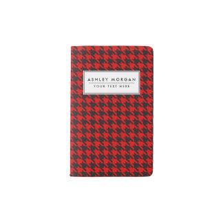 Carnet Moleskine De Poche Motif rouge et noir de pied-de-poule