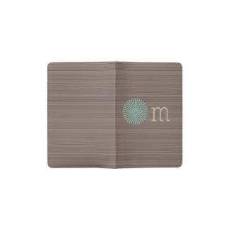 Carnet Moleskine De Poche Rayures en bois de brun de grain de turquoise de