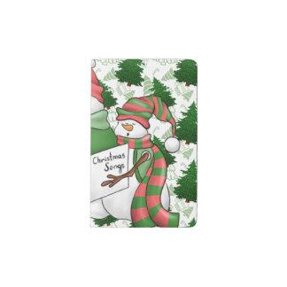 Carnet Moleskine De Poche Trois Carolers de bonhomme de neige