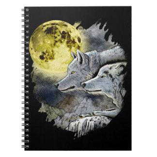 Carnet Montagne de lune de loup d'imaginaire