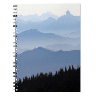 Carnet Montagnes de cascade du parc national de mont