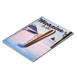Carnet Morzine, affiche française de ski d'Alpes