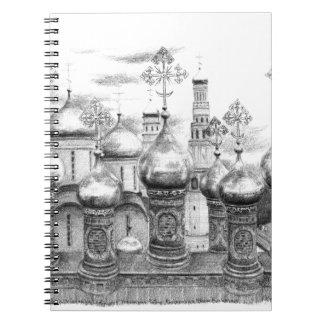 Carnet Moscow Kremlin design by Schukina g048