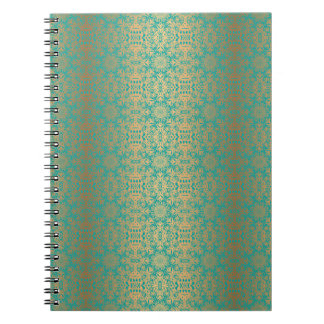 Carnet Motif antique royal de luxe floral