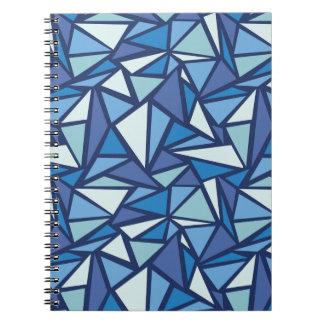 Carnet Motif bleu abstrait de Crsytal de glace