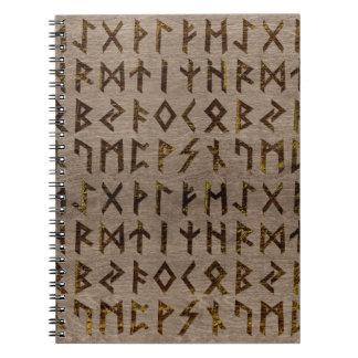 Carnet Motif celtique antique d'alphabet de runes