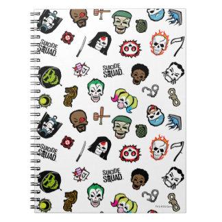 Carnet Motif d'Emoji de peloton de suicide du peloton  