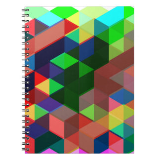Carnet Motif géométrique audacieux de cube