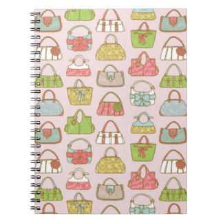 Carnet Motif mignon et coloré d'illustration de sacs