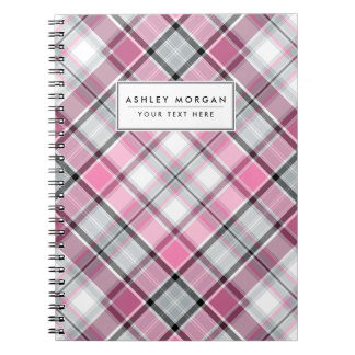 Carnet Motif rose de plaid chic