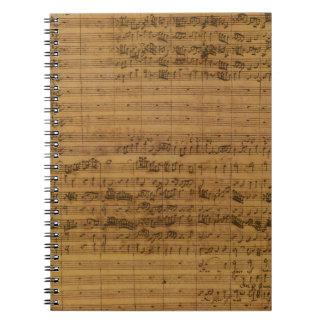 Carnet Musique de feuille vintage par Johann Sebastian