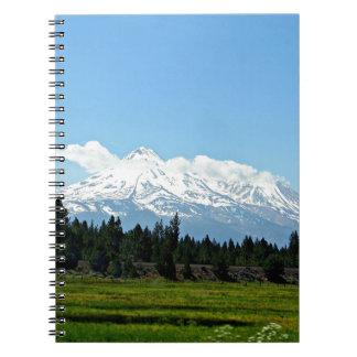Carnet Nature de paysage de montagne de Shasta la