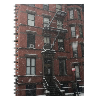 Carnet Neige supérieure de la sortie de secours NYC de