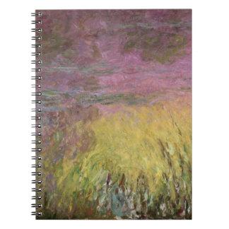 Carnet Nénuphars de Claude Monet   au coucher du soleil