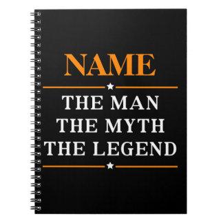 Carnet Nom personnalisé l'homme le mythe la légende